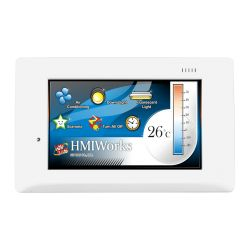 4.3'' Touch HMI device with RS-485, RS-232 (3 pin), USB, RTC, Ethernet (RoHS)