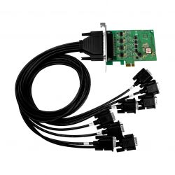 PCI Express, Serial Communication card with 8 RS-232 ports (RoHS)Includes one CA-9-6210 cable