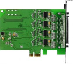 PCI Express, Serial Communication card with 8 RS-232 ports (RoHS) Includes one CA-PC62M D-Sub connector