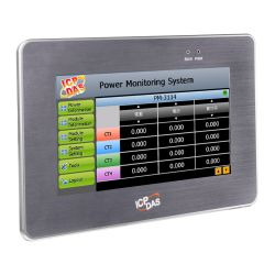10.4'' Power Meter Concentrator with Touch Panel Display. Features Easy-to-use Web Interface, Power Data Collection, Logic Control, Data Logging, local display and web display. Communicates over Modbus TCP, Modbus RTU, Ethernet, RS-485 and USB.