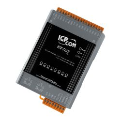 Ethernet I/O Module with 2-port Ethernet Switch, 8 AC/DC digital input channels. Each input channel can be used as a 32-bit counter. Support for both Modbus TCP and Modbus UDP Protocols. Built-in Web Server. Has operating temperatures of -25°C ~ +75°C (-13°F ~ +167°F).