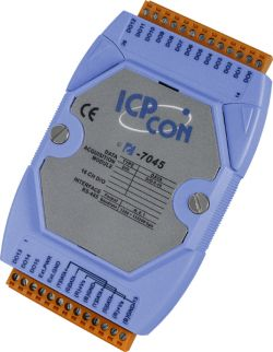16 Channel Isolated Digital Output Data Acquisition Module.  Communicable over RS-485. Supports operating temperatures between -25°C ~ +75°C (-13°F ~ +167°F).