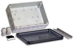 Small Industrial Enclosure with dimensions 10 inches (width) x 7.09 inches (length) x 3.54 inches (height)