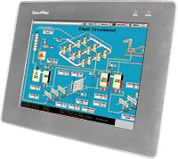 Touchpad 10.4'' (800 x 600) resistive touch panel monitor with RS-232 or USB interface with aluminum casing. Includes VGA cable, RS-232 cable, USB cable, Mounting clamps and screws. Supports IP65 standard for protection against dust and water. <span style=''color:red''>No Power Supply Included</span>