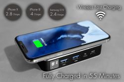 World's Fastest Power Bank, 45 minutes to charge full, 10,000 mAh Real Graphene Power Bank + 60W Charger. It also has wireless charging function. <br /> 2.0LBS gross weight; 0.6LB/280g net weight. <br/> <span style=''color:#FF8C00;''><strong>Free ground shipping within the US (exclude Hawaii and Alaska) - Apply at checkout</strong></span>