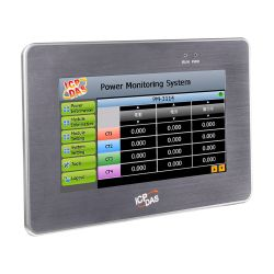 7'' Power Meter Concentrator with Touch Panel Display. Features Easy-to-use Web Interface, Power Data Collection, Logic Control, Data Logging, local display and web display. Communicates over Modbus TCP, Modbus RTU, Ethernet, RS-485 and USB.