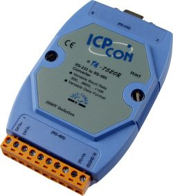 RS-232 to RS-485 Converter (For PLC use only). Supports operating temperatures between -25 to 75°C.