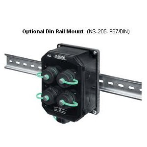 din rail mount for waterproof switch